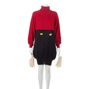 Moschino 90's Mickey Mouse Sweater Dress w/ Gloves